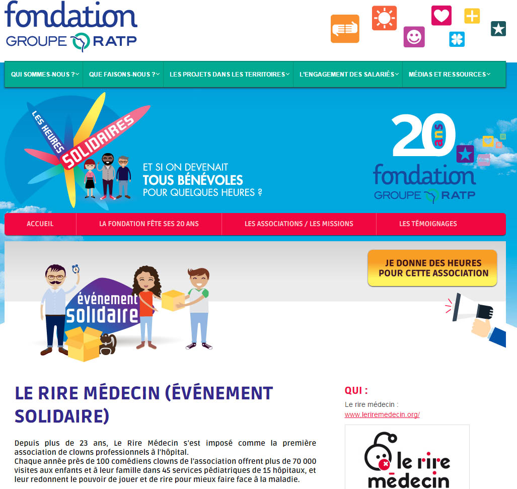 fondation RATP heures solidaires