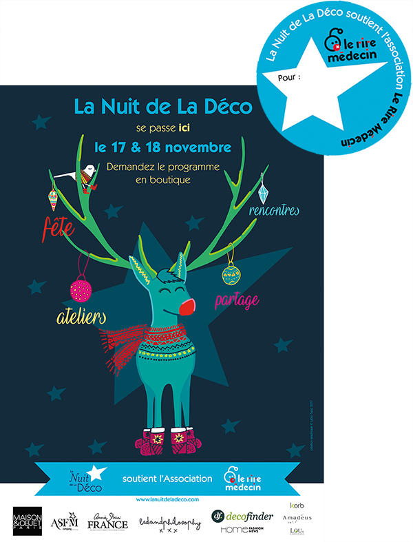 Affiche nuit deco sticker