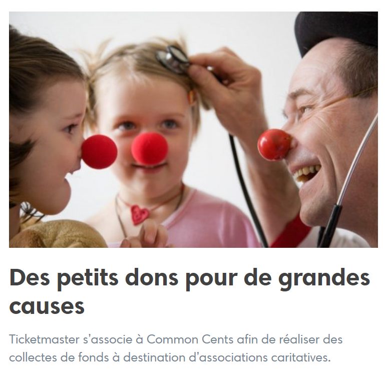 dons commoncents ticketmaster riremedecin